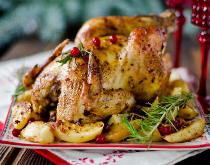 Pollo relleno al horno - mychef