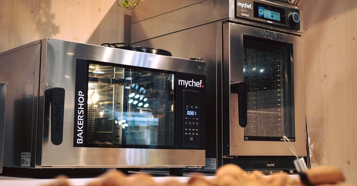 New Mychef professional ovens and vacuum packaging machines