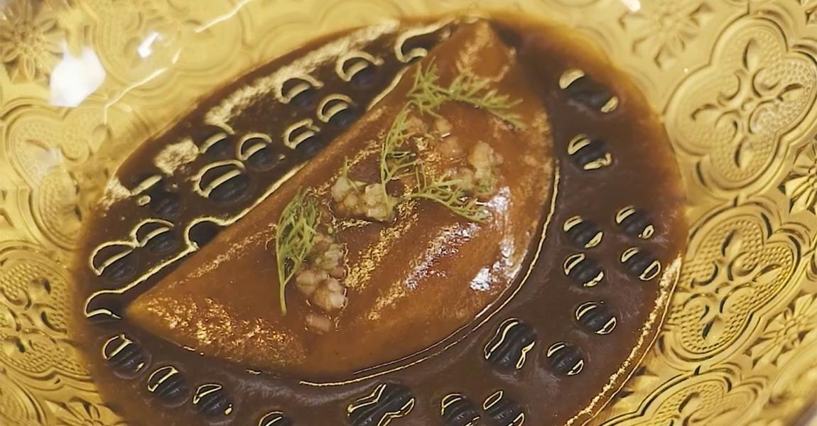 Taco al vapor de pollo con mole de olla  - mychef