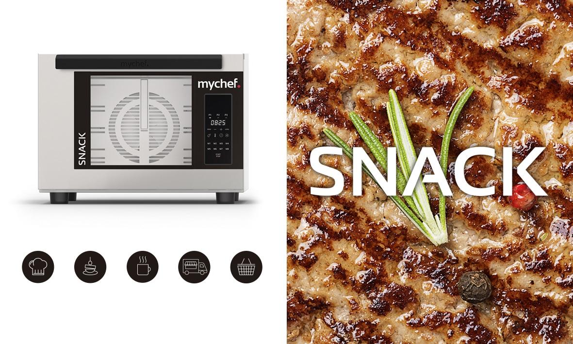 Mychef AD SNACK iconos sintexto Presentamos la gama de hornos profesionales y envasadoras al vacío para el año 2020  Mychef   AD SNACK iconos sintexto