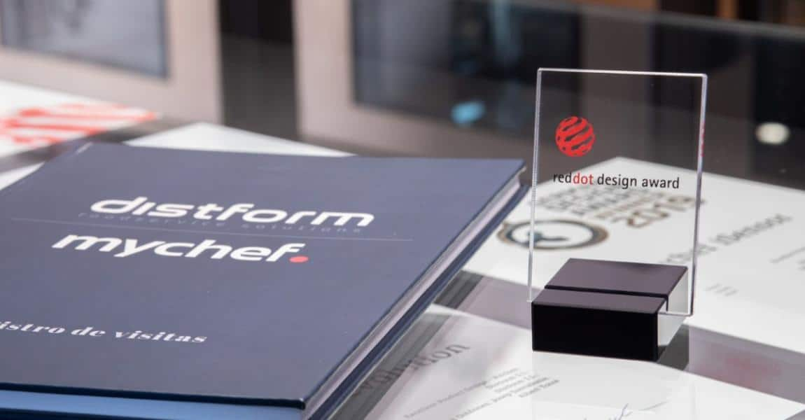 Mychef Red Dot award Mychef gana el prestigioso premio internacional Red Dot por su diseño industrial  Mychef   Red Dot award